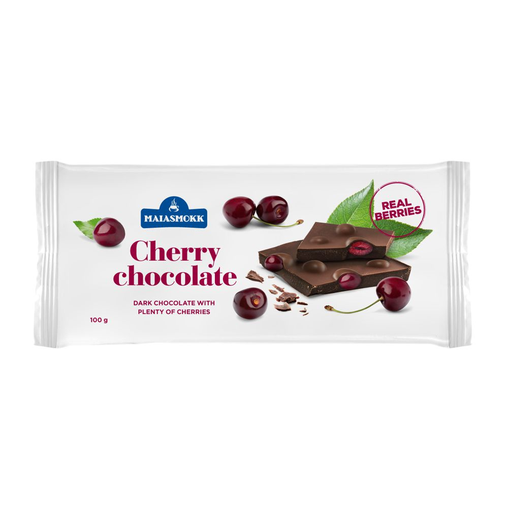 Dark chocolate with cherry 100g 4742267006604 | DOIberica
